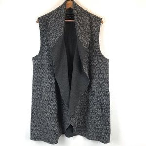 Adrienne Vittadini Sleeveless Raw Hem Cardigan